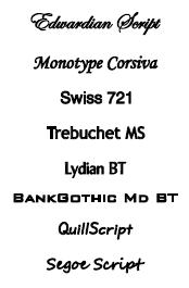 Ketting hanger graveren lettertypes