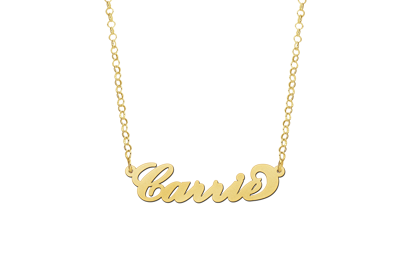 Gouden Naamketting model Carrie