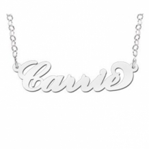 Carrie naamketting zilver