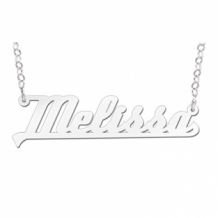 Zilveren naamketting model Melissa