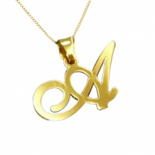 Gold Plated Ketting Letter