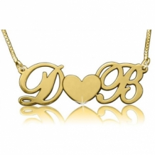 Gold Plated Naamketting voor Koppels