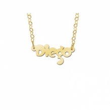 Gouden naamketting kind model Diego
