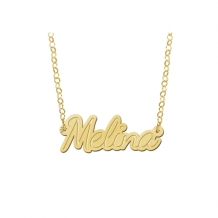 Naam ketting Melina Names4ever goud detail