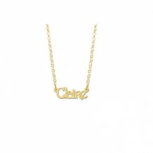 Gouden naamketting kind model Clair
