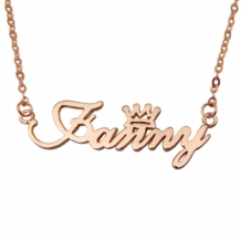 Rose Gold Plated Naamketting